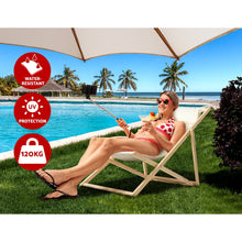 Load image into Gallery viewer, Artiss Fodable Beach Sling Chair - Sand