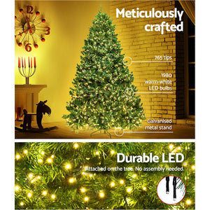 Jingle Jollys 1.8M 6FT Christmas Tree Xmas 1980 LED Lights Warm White 765 Tips - Maddie & Jack's Playground