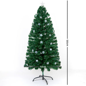 Jingle Jollys 1.2M 4FT LED Christmas Tree Xmas Optic Fiber Multi Colour Lights - Maddie & Jack's Playground