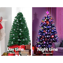 Load image into Gallery viewer, Jingle Jollys 1.2M 4FT LED Christmas Tree Xmas Optic Fiber Multi Colour Lights - Maddie & Jack's Playground