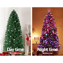 Load image into Gallery viewer, Jingle Jollys 1.8M 6FT LED Christmas Tree Xmas Optic Fiber Multi Colour Lights - Maddie & Jack's Playground