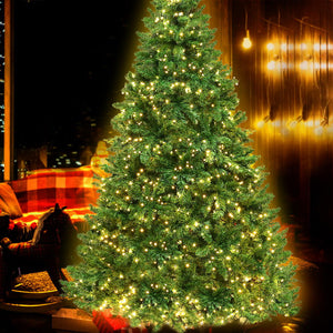Jingle Jollys 2.1M 7FT Christmas Tree 1134 LED Lights 1134 Tips Warm White Green - Maddie & Jack's Playground