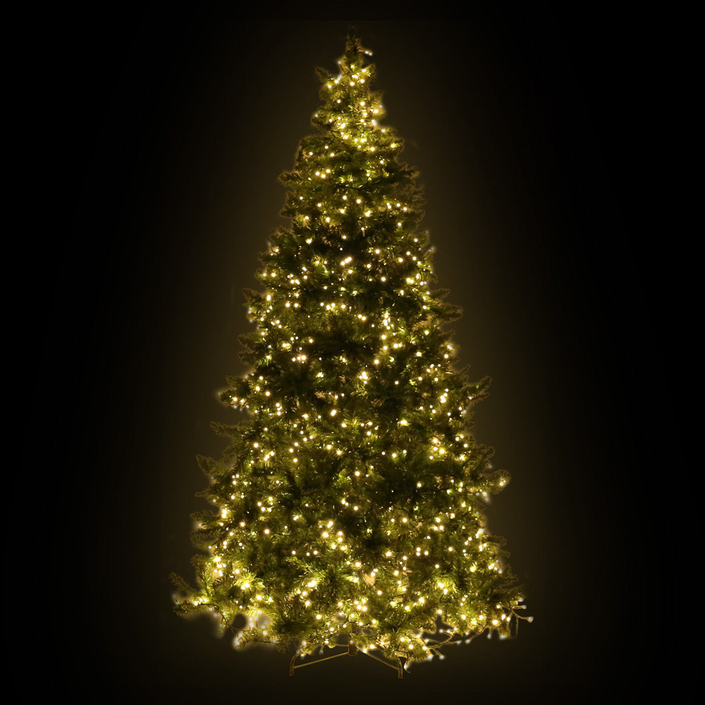 Jingle Jollys 2.4M 8FT Christmas Tree 1488 LED Lights 1488 Tips Warm White Green - Maddie & Jack's Playground