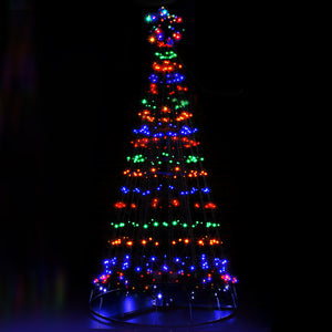 Jingle Jollys 2.1M LED Christmas Tree Lights Solar Xmas Multi Colour Optic Fiber - Maddie & Jack's Playground