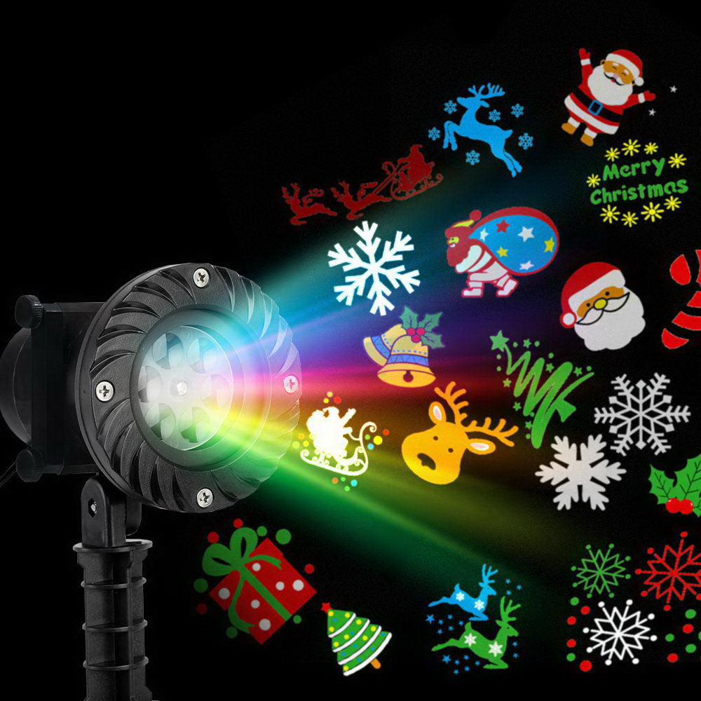 Jingle Jollys Pattern LED Laser Landscape Projector Light Lamp Christmas Party - Maddie & Jack's Playground