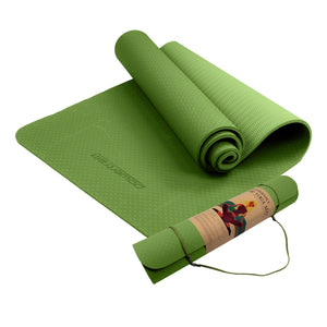 POWERTRAIN ECO FRIENDLY TPE YOGA MAT EXERCISE PILATES - GREEN - Maddie & Jack's Playground