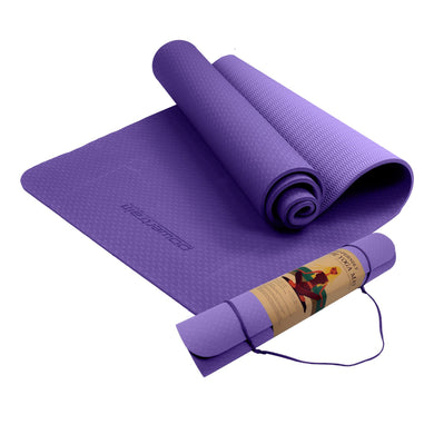 POWERTRAIN ECO FRIENDLY TPE YOGA EXERCISE PILATES MAT - LILAC - Maddie & Jack's Playground