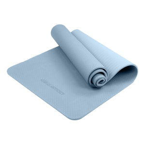 POWERTRAIN ECO FRIENDLY TPE YOGA EXERCISE PILATES MAT - SKY BLUE - Maddie & Jack's Playground