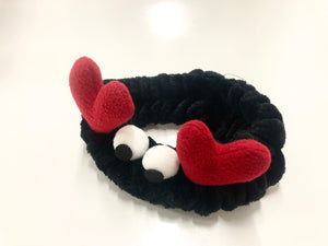 Bubble Eye Crab Microfiber Bowtie Headband