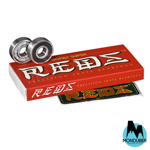 Rodamientos Bones Bearings - Super Reds 8mm - Monduber Skate Shop