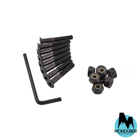 "Tornillos Long Island Longboards - Allen Hardware Bolts - Allen 1 1/4"" - Color Negro - Monduber Skate Shop"