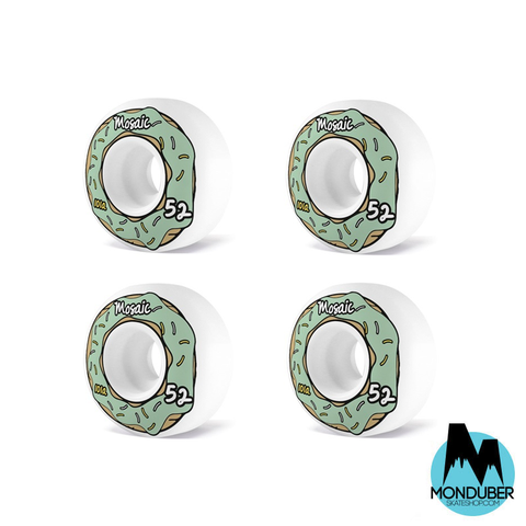 Ruedas Mosaic Bearings - Donut - 52mm - 101a - Monduber Skate Shop