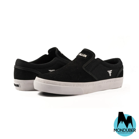 Zapatillas de Skate Sin Cordones Fallen - The Easy - Black/White - Monduber Skate Shop