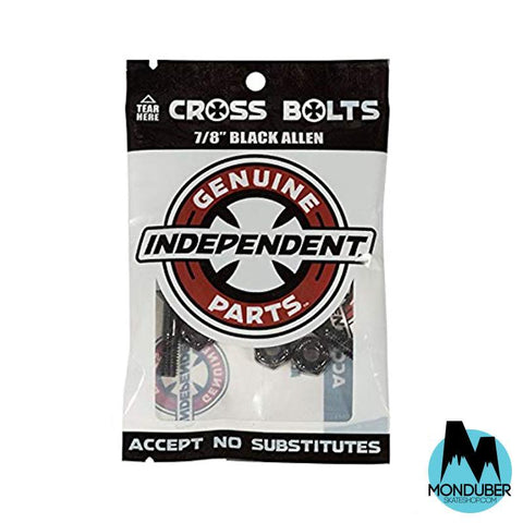 "Tornillos Independent Truck Company: Genuine Parts - Cross Bolts - Allen 7/8"" - Color Negro - Monduber Skate Shop"