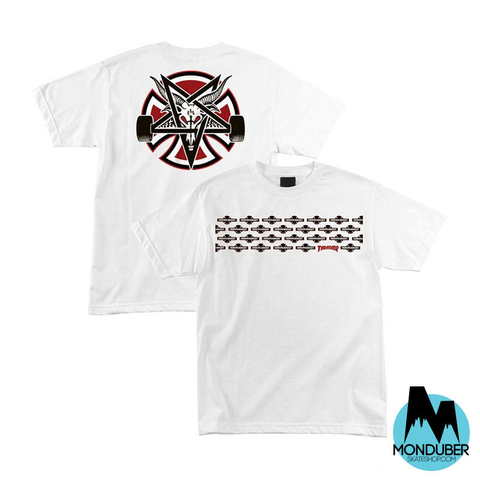 Camiseta Independent Truck Company x Thrasher Magazine - Pentagram Cross - Blanco - Monduber Skate Shop