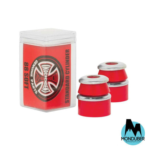 Bushings Independent - Dureza: 88 - Blando - Rojo - Monduber Skate Shop