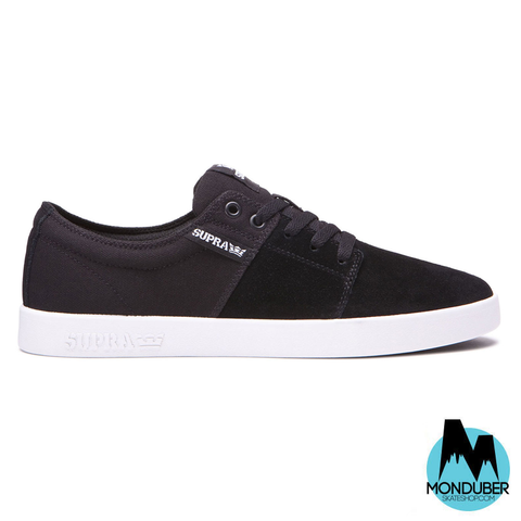 Zapatillas de Skate Supra - Stacks II - Black/White - Monduber Skate Shop