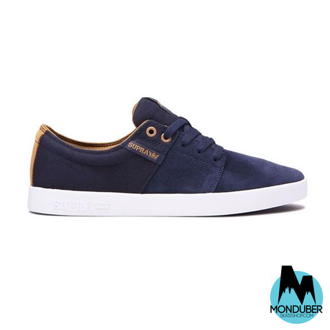 Zapatillas de Skate Supra - Stacks II - Navy/Tan/White - Monduber Skate Shop