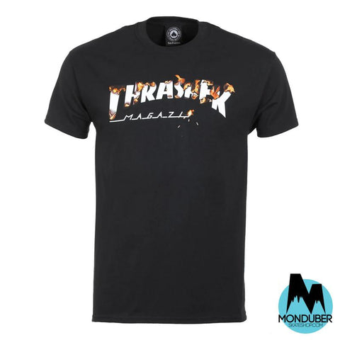 Camiseta Thrasher - Intro Burner - Negro - Monduber Skate Shop