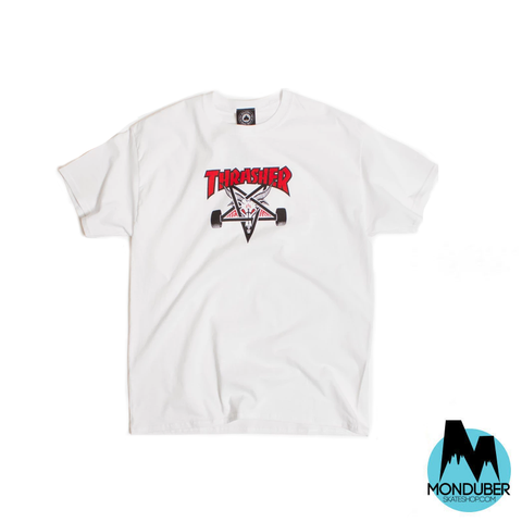 Camiseta Thrasher - Skategoat - Two-Tone - Blanco - Monduber Skate Shop
