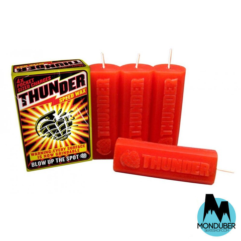 Cera de Skate - Thunder Trucks - Speed Wax - Rojo - Monduber Skate Shop