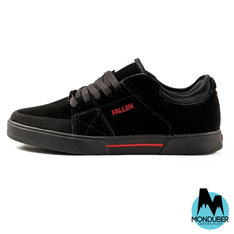 Zapatillas de Skate Fallen - Trooper - Black/Red - Pro Model Chris Cole - Monduber Skate Shop