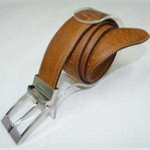 Marco Dot Patterned Leather Belt