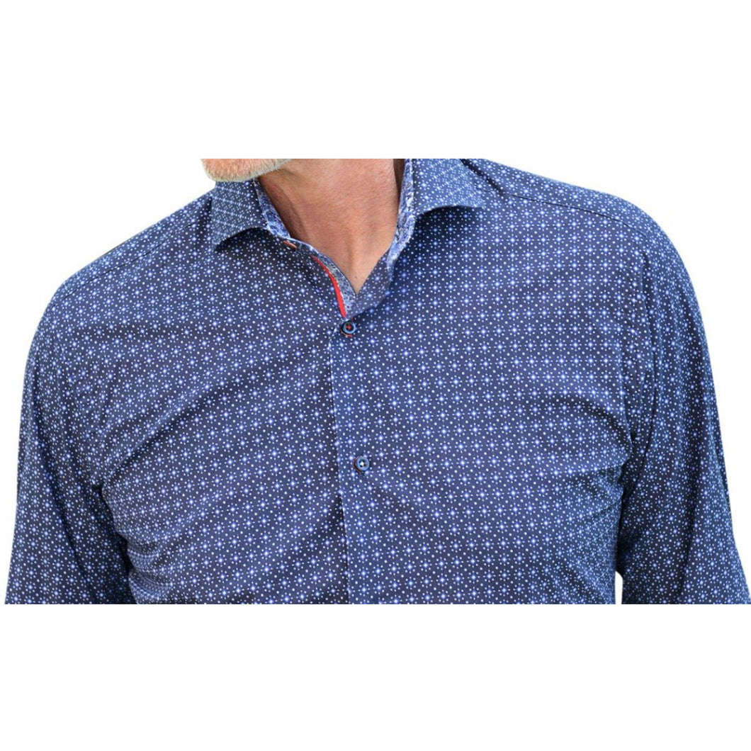 7 Downie St. Blue Patterned Shirt