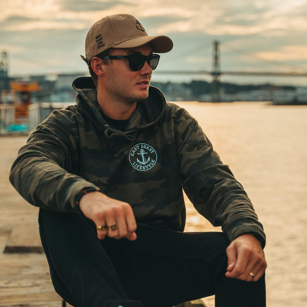 East Coast Lifestyle Classic Embroidered Camo Hoodie