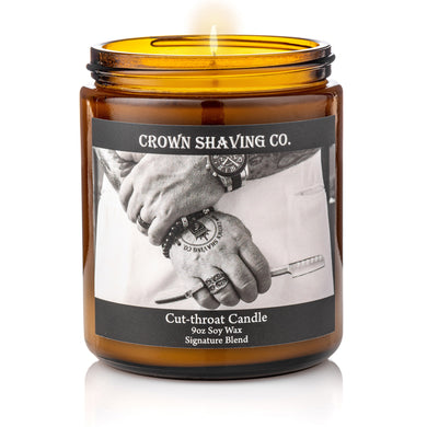 Crown Shaving Cut Throat Candle