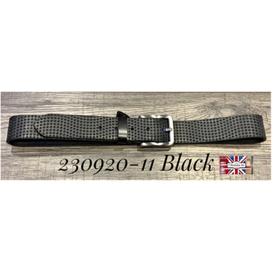 7 Downie St. Black Circle Patterned Leather Belt