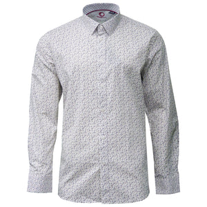 Marco Musical Note Patterned Long Sleeve Shirt
