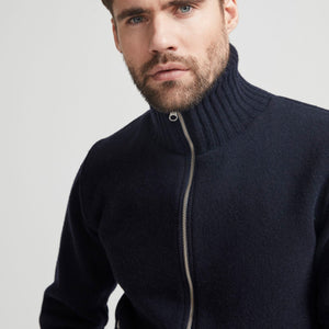 Måns Zip WP Navy Outerwear Knit