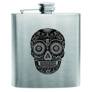 True Brand Dia De Los Muertos Stainless Steel Flask