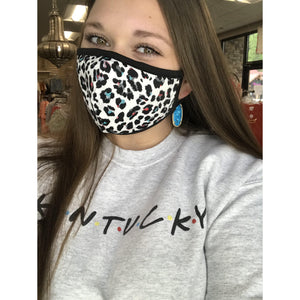 Fabric Face Mask White Leopard