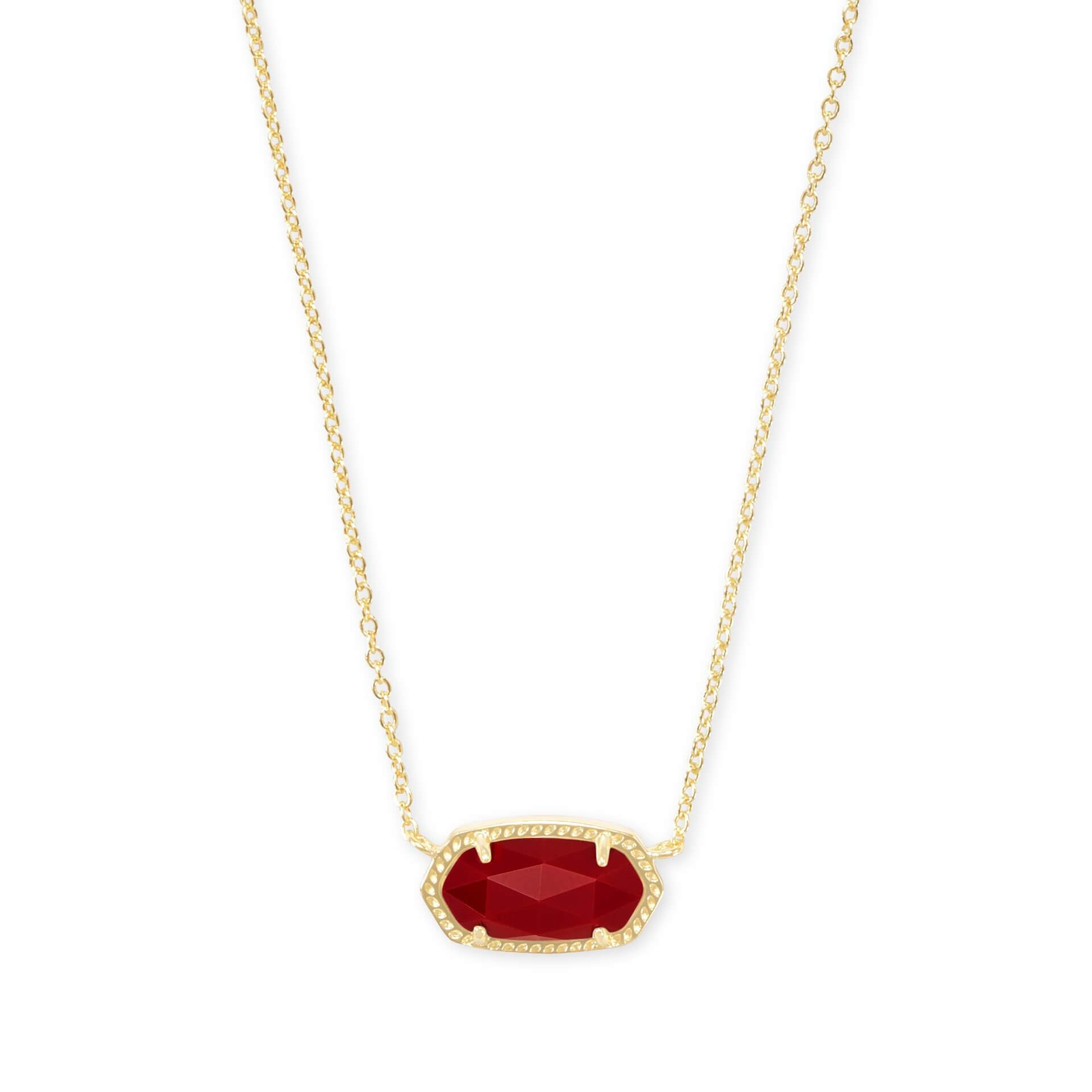 KS Elisa Necklace in Dark Red Gold