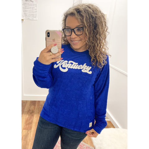 Curvy Kentucky Royal Knit Pullover