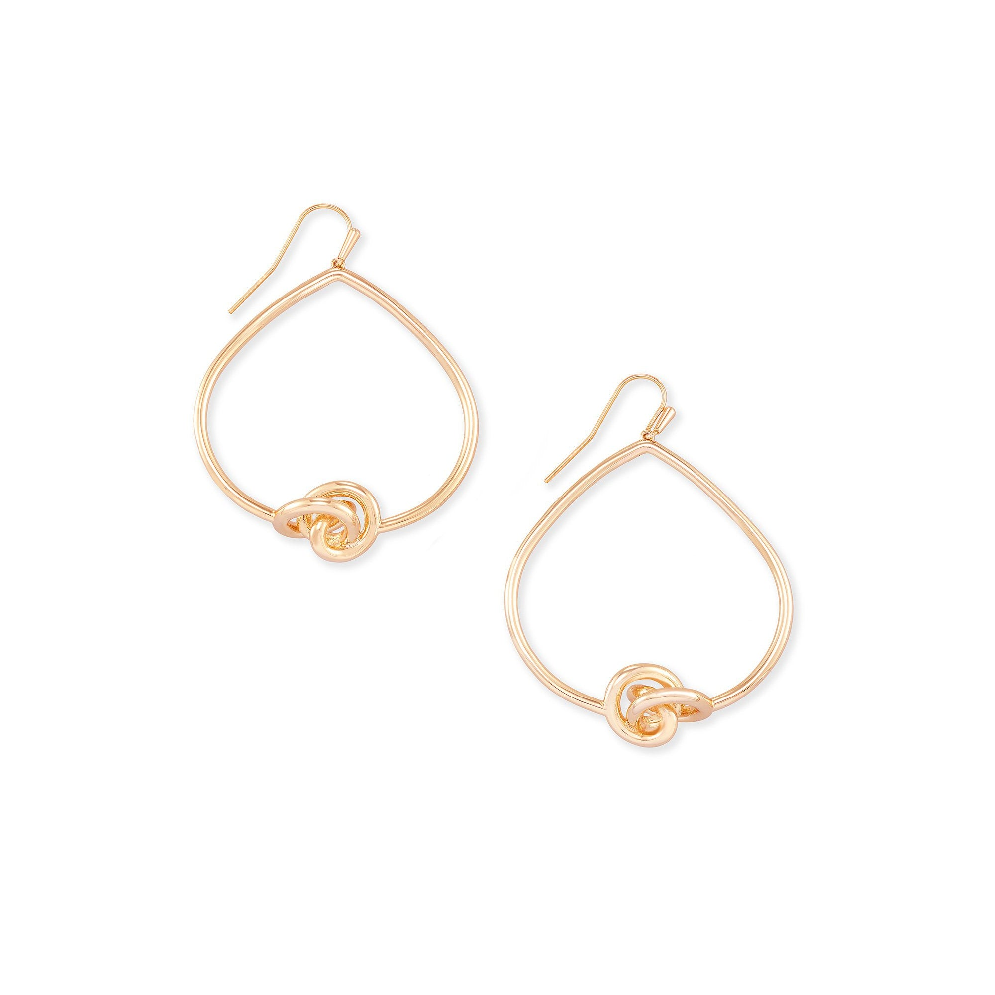 Presleigh Open Frame Earrings Rose Gold