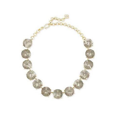 Jolie Statement Necklace Gold Grey Illusion