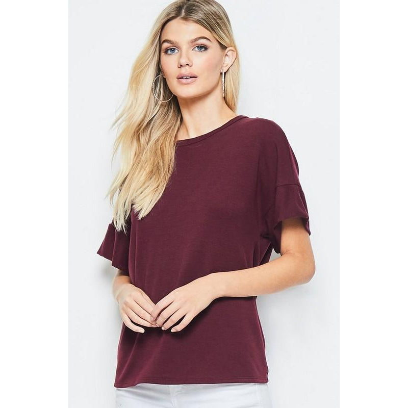 Maroon Love Top