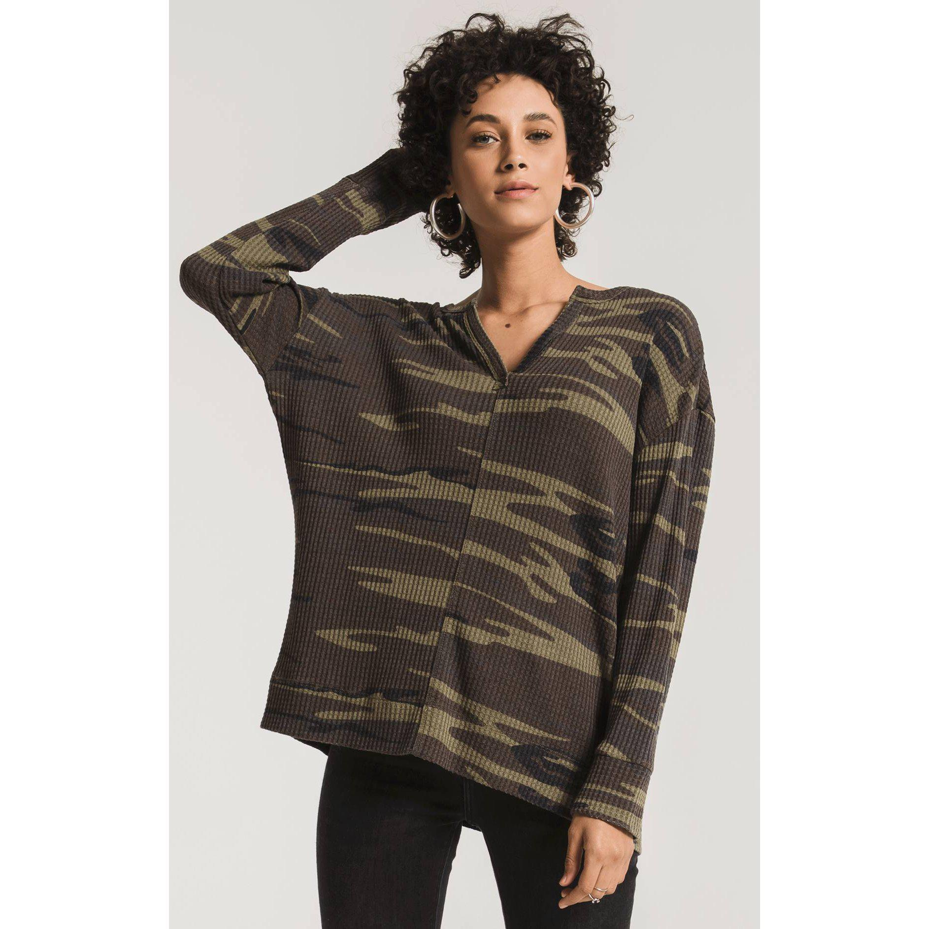 The Camo Split Thermal Top