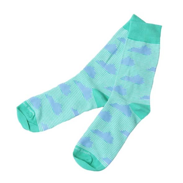 Green Stripe KY Socks
