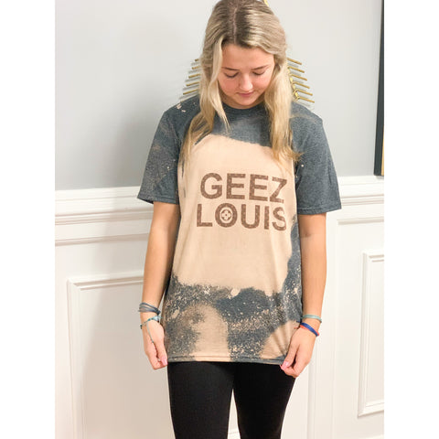 Curvy Living Luxe Acid Wash Geez Tee