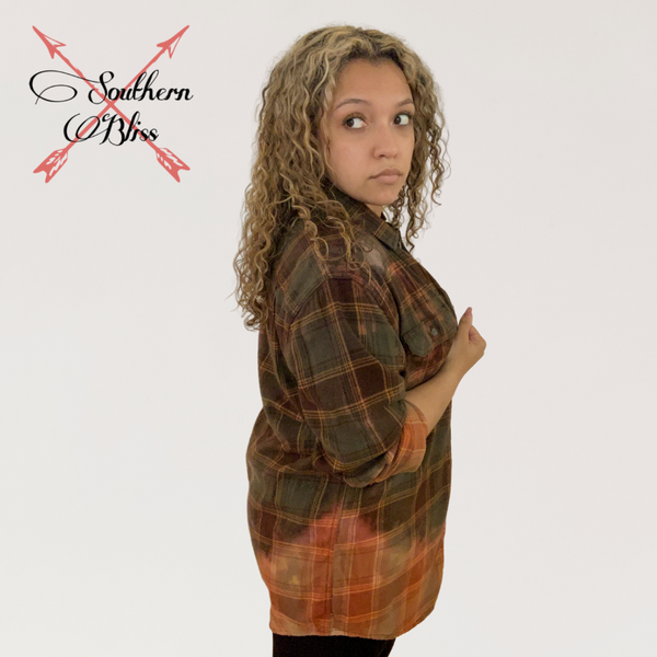 Curvy Autumn Plaid Flannel