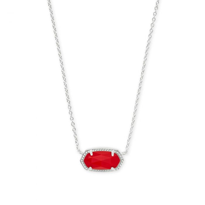 KS Elisa Necklace in Bright Red Rhodium