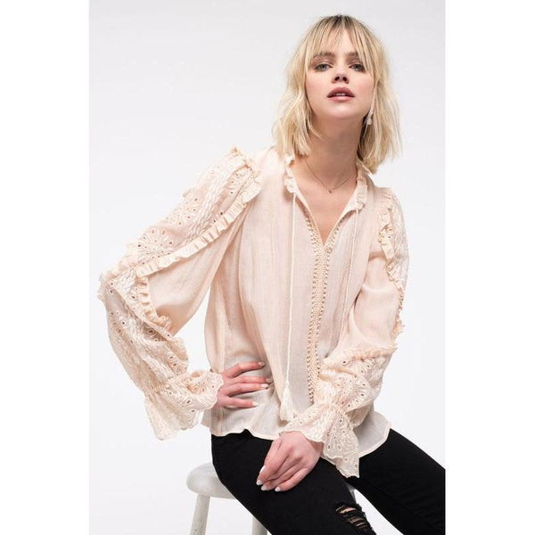 Blush Dreams Lace Blouse