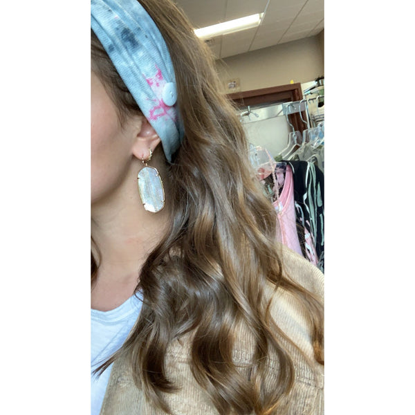 Fabric Headband with Buttons for Mask