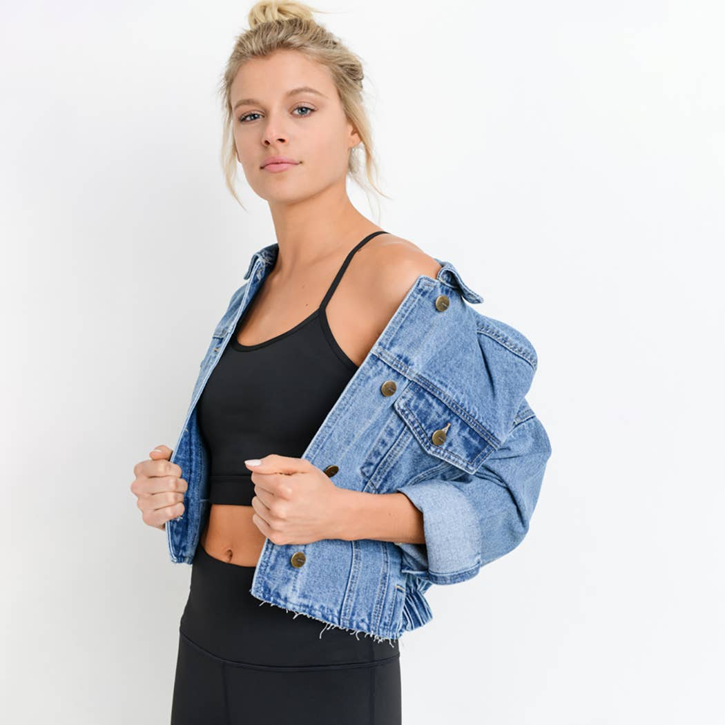 Raw & Ribbed Denim Jacket