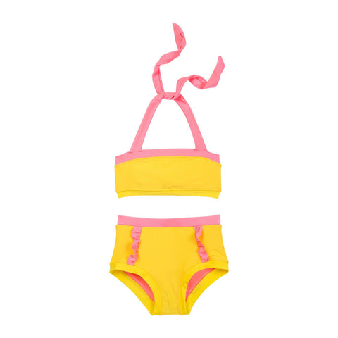 Kid's Sun Shine Yellow and Pink Swimwear