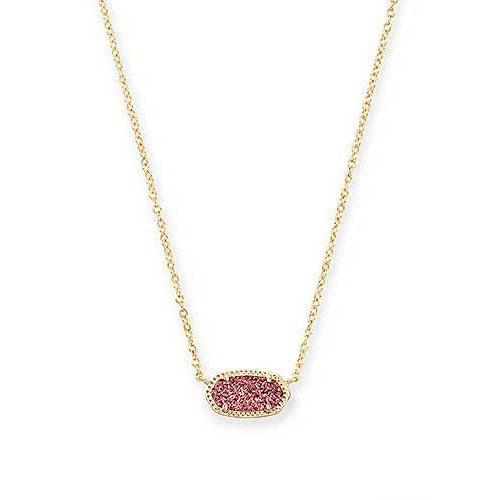 Elisa Necklace Raspberry Drusy